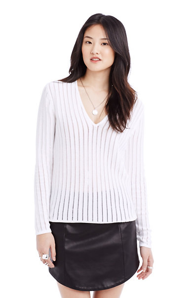 Contrast Yarn Stripe Top