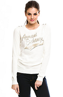 Sequin Logo Sweater