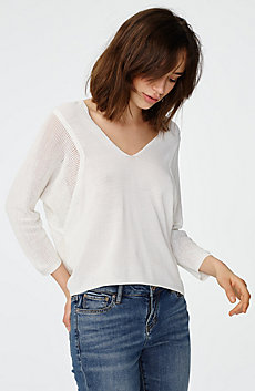 Open-Knit Dolman Sleeve Sweater