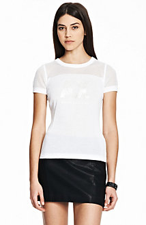 Short Sleeve Mesh Top