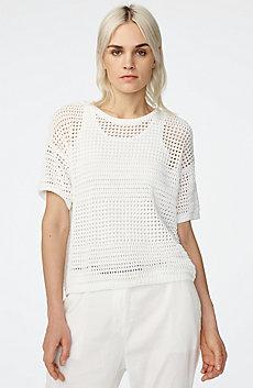 Open-Knit Sweater Top