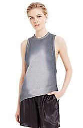 Metallic Racerback Sweater