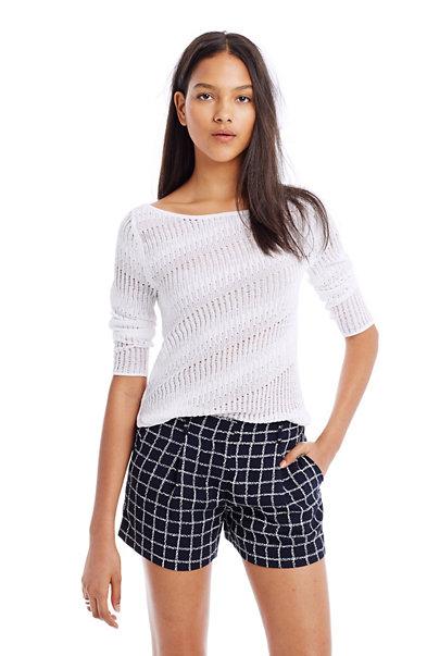 Open Weave Boatneck Sweater