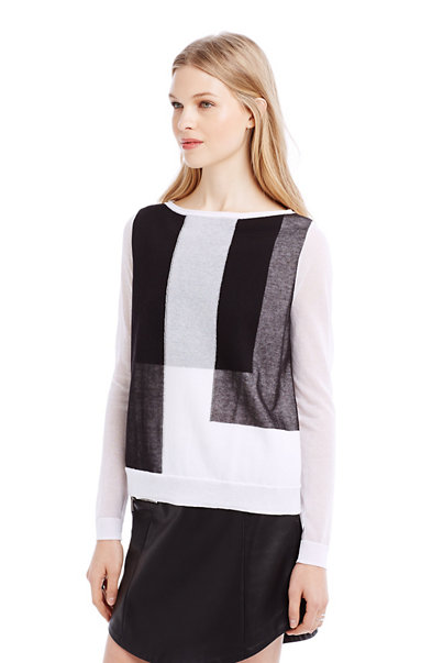Double Layer Colorblocked Pullover