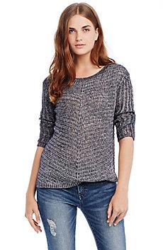 Chevron Open-stitch Sweater
