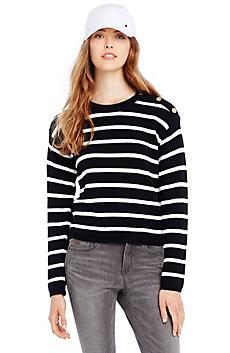 Button Shoulder Sweatshirt