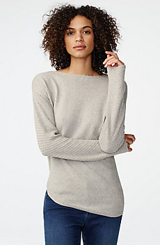 Asymmetrical Rounded Hem Sweater