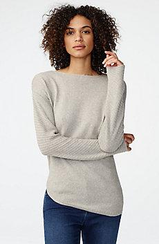 Asymmetrical Rounded Hem Sweater