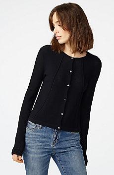 Multi-Stitch Open-Knit Cardigan