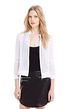 Contrast Yarn Stripe Jacket