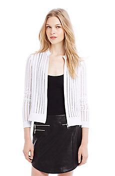 Contrast Yarn Stripe Jacket