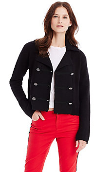 Double Breasted Sweater Jacket