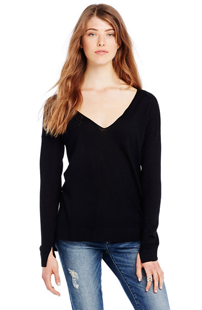 Merino Double V-neck Sweater
