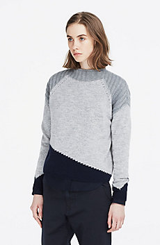 Mixed Gauge Marled Sweater