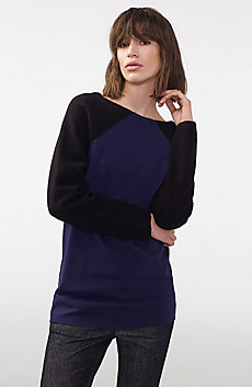 Long-Sleeve Boiled Wool Tunic