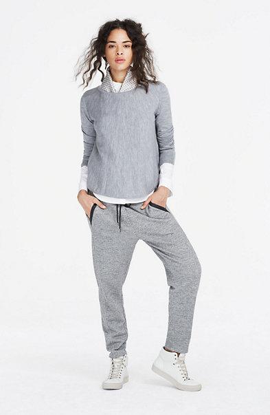Pleated Merino Wool Sweater