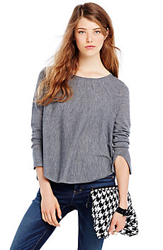 Asymmetrical Hem Merino Sweater