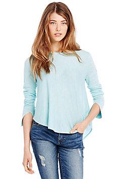 Asymmetrical Hem Merino Sweater