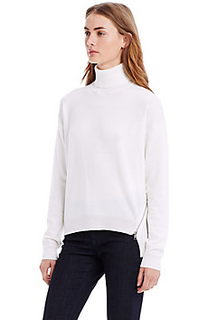 Side Zip Turtleneck