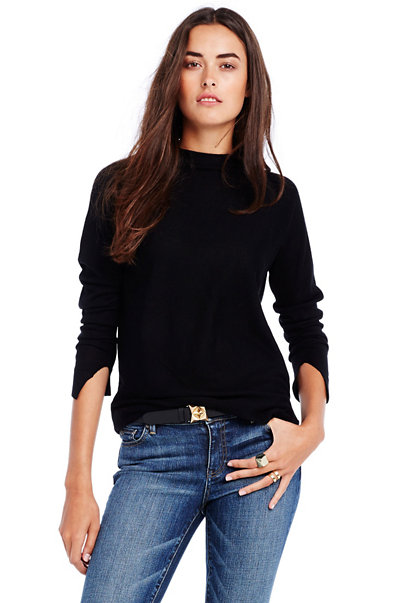 Slouchy Merino Mockneck Sweater