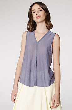 Seamed V-Neck Tank