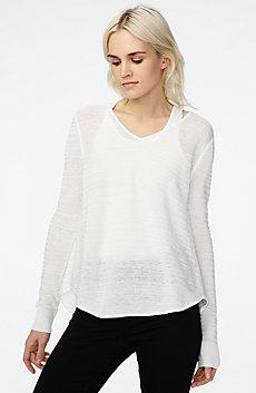 Textured Linen Pullover