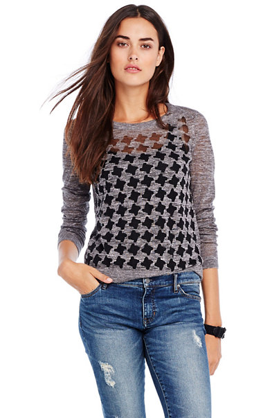 Burnout Houndstooth Top