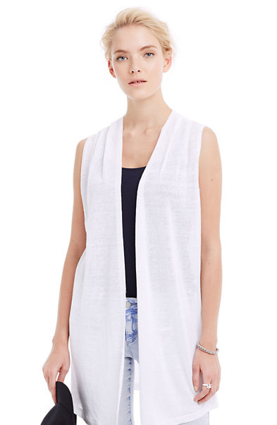 Sleeveless Tunic Cardigan