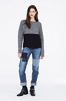 Dolman Sleeve Colorblock Sweater