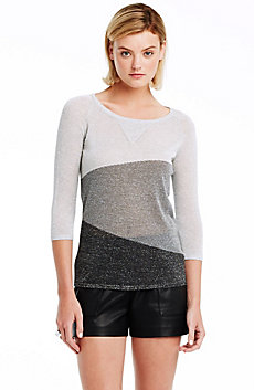 Shimmer Colorblock Sweater