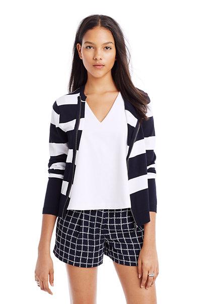 Striped Sweater Jacket