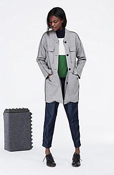 Bonded Wool Utility Coat