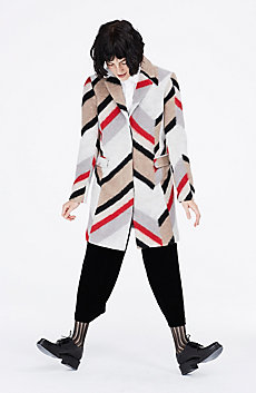 Broken Chevron Tailored Coat