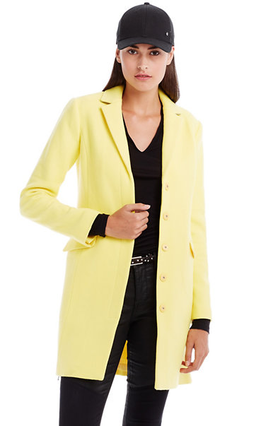 Side Zip Wool Coat