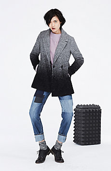 Ombre Wool Peacoat