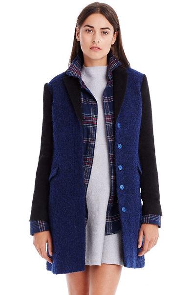 Wool Colorblock Coat