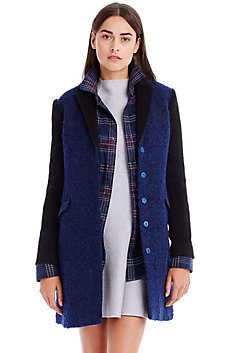 Wool Colorblock Coat