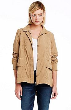 Flounce Back Nylon Jacket