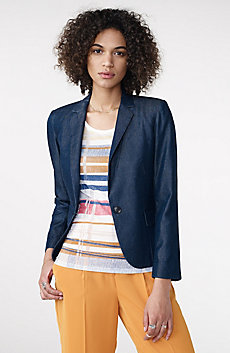 Tailored Denim Blazer