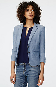 Denim-Look Blazer