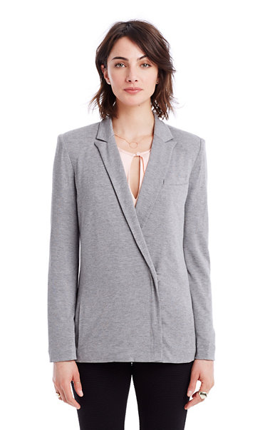 Heathered Jersey Blazer