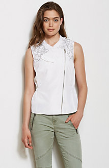 Asymmetrical Studded Vest
