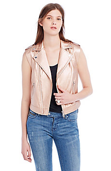 Faux Leather Biker Vest