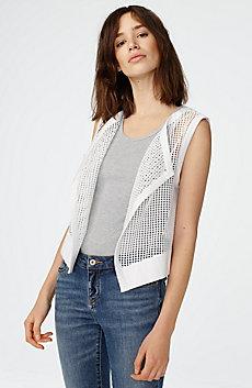 Drape-Front Lace Vest