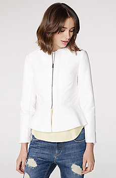 Zip-Up Peplum Jacket