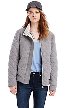 Quilted Wool Bomber