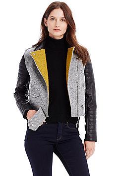 Wool Blend Moto Jacket