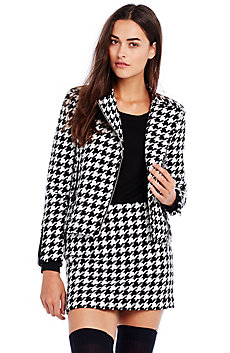 Houndstooth Biker Jacket