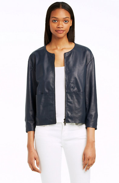 Minimalist Leather Jacket