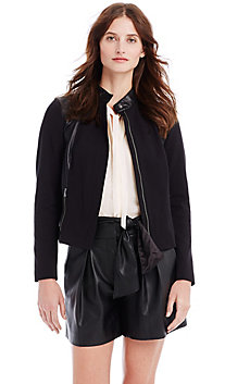 Faux Leather Ponte Jacket